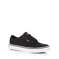 Vans - Boy's black lace up trainers