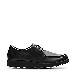 Clarks - Boys' black leather 'Crown Tate' school shoes