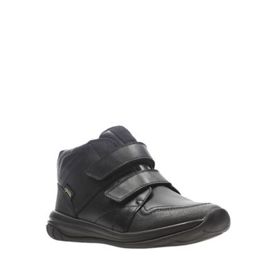 Clarks - Boys' black leather 'Hula Spin Goretex' school shoes shoes shoes 103e38