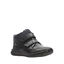Clarks - Boys' black leather 'Hula Spin Goretex' school shoes