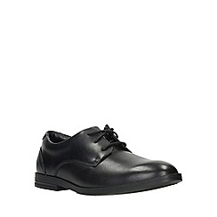 Clarks - Boys' black leather 'Rufus Edge Bootleg' lace-up school shoes
