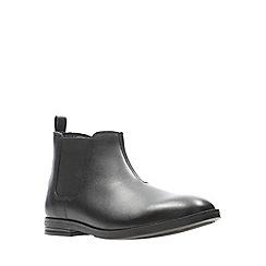 Clarks - Boys' black leather 'Rufus Trail' school boots