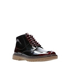 Clarks - Boys' red leather 'Asher Street' lace-up boots