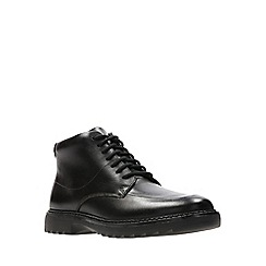 Clarks - Boys' black leather 'Asher Street' lace-up school boots