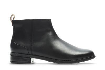 Clarks - Girls' black patent leather 'Drew Moon' ankle boots