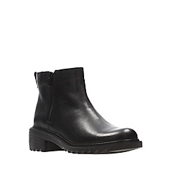 Clarks - Girls' black leather 'Frankie Roam' school boots