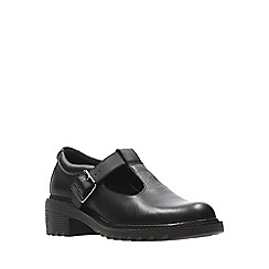 Clarks - Girls' black leather 'Frankie Street' shoes