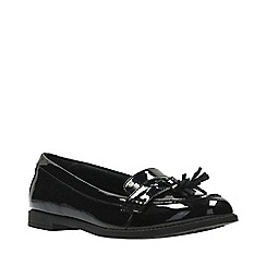 Clarks - Girls' black patent leather 'Preppyedge Bootleg' shoes