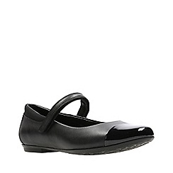 Clarks - Girls' black leather 'Tizz Talk' shoes