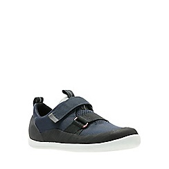 Clarks - Boys' navy 'Play Pioneer' shoes