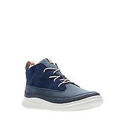 Clarks - Boys' navy leather 'Cloud Air' infant boots