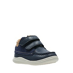 Clarks - Boys' navy leather 'Cloud Tuktu' boots