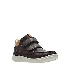 Clarks - Boys' brown leather 'Cloud Tuktu' boots