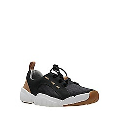 Clarks - Boys' black leather 'Tri Weave' sports trainers