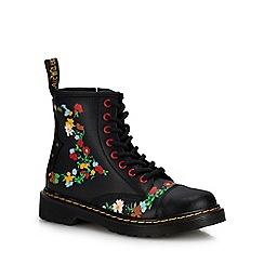 Dr Martens - Girls  Black Floral Print Ankle Boots 5a579c01a