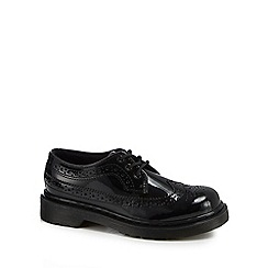 Dr Martens - Girls' black leather patent brogues