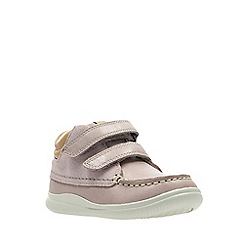 Clarks - Girls' pink leather 'Cloud Tuktu' boots