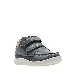 Clarks - Boys' grey leather 'Cloud Tuktu' boots