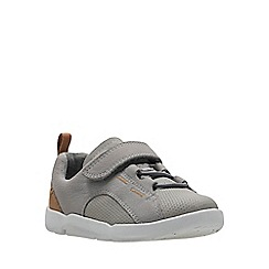 2522526c6843c Clarks - Girls  grey leather  Tri Leap  shoes