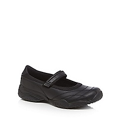 Skechers - Girls' black school shoes