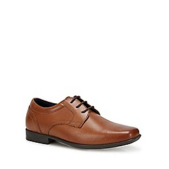 Debenhams - Boys' Tan Leather Lace Up Shoes