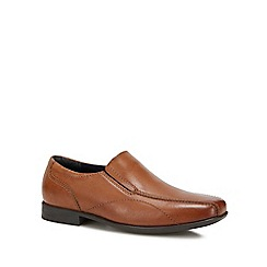 Debenhams - Boys' Tan Leather Slip-On Shoes