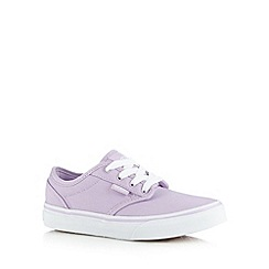 Vans - Girls lilac classic trainers