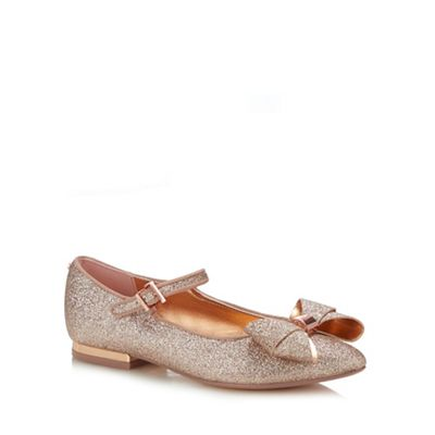 ae1a86cd82f50 Baker by Ted Baker - Girls  Pink Glitter Pumps