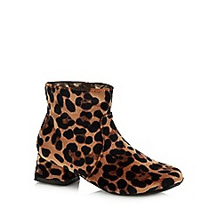 bluezoo - Girls' Brown Leopard Print Boots