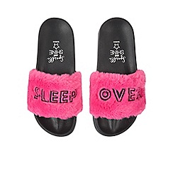 1df53cf0f0ed4 bluezoo - Kids  Pink Faux Fur Slider