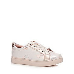 Baker by Ted Baker - Girls' Pink Floral Jacquard Trainers
