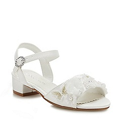 Debenhams - Girls' Ivory Applique Sandals
