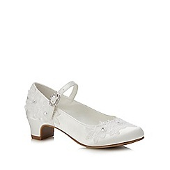 Occasions - Girls' Ivory Lace Shoes