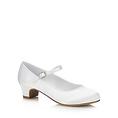 Occasions - Girls' White Satin Pumps