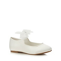 Occasions - Girls' Ivory Lace Mary Janes