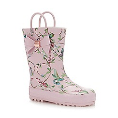 Baker by Ted Baker - Girls' Pink Floral Wellies