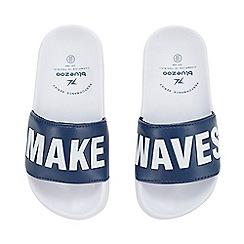bluezoo - Boys' Navy 'Make Waves' Sliders