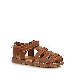 J by Jasper Conran - Boys' Tan Fisherman Sandals