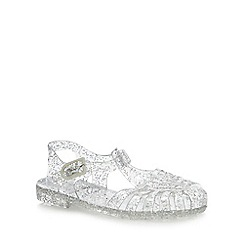 bluezoo - Silver Glitter Jelly Sandals