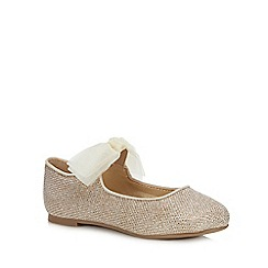 bluezoo - Girls' Gold Glitter Ballet Pumps