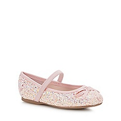 bluezoo - Girls' Pink Glitter Pumps