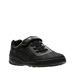 Clarks - Boys' black 'Award Blaze Jnr' sport shoes
