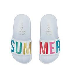 bluezoo - Kids' White 'Summer' Sliders