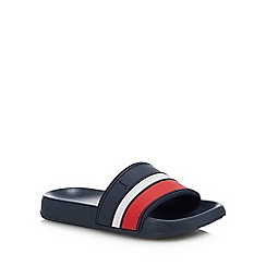J by Jasper Conran - Kids' Blue Striped Sliders