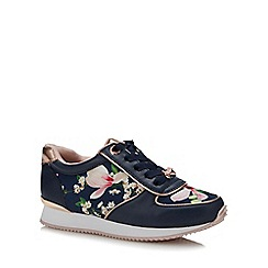 Baker by Ted Baker - Girls' Navy Floral Print Trainers