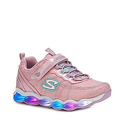 Skechers - Girls' Light Pink Light Up Trainers