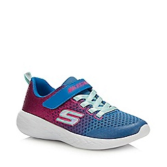 Skechers - Girls' Blue Glitter 'Go Run 600' Trainers