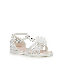 bluezoo - Girls' Ivory Glitter Sandals