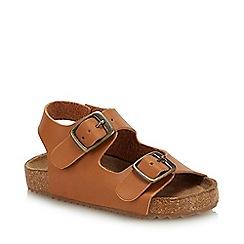 Mantaray - Kids' Tan Double Buckle Sandals