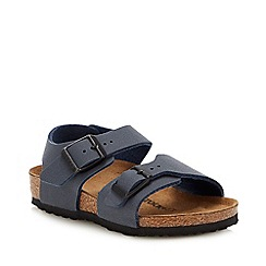 Birkenstock - Kids' Navy Nubuck 'New York' Sandals